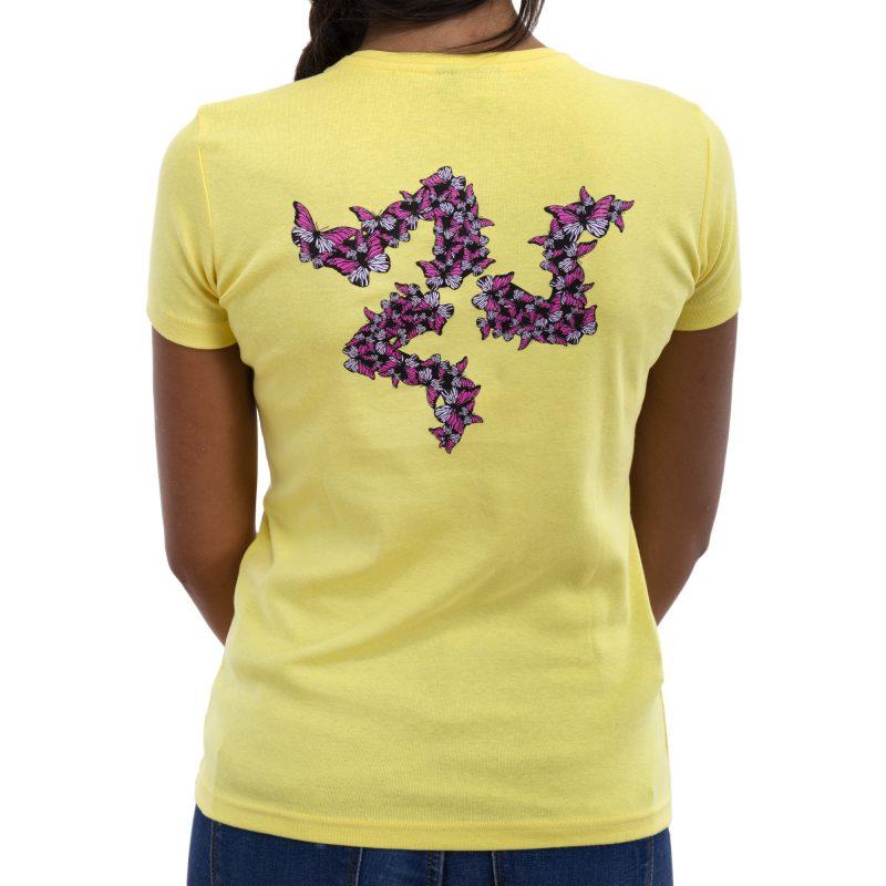 farfalla giallo retro