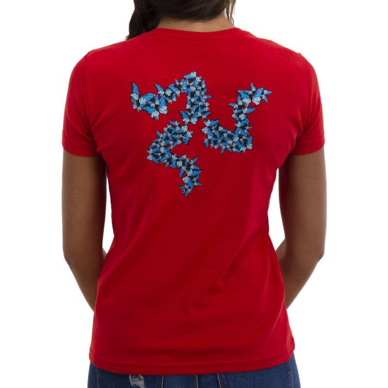 farfalla rosso retro