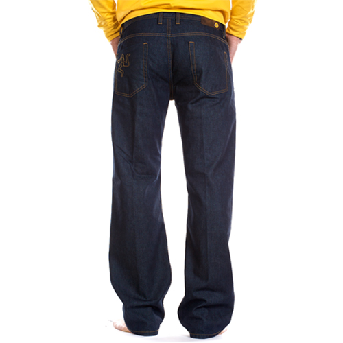 jeans regular scuro retro