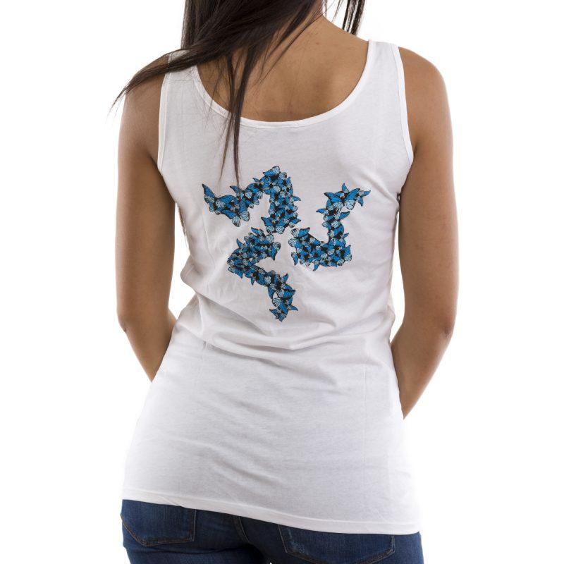 canotta camac farfalla bianco retro