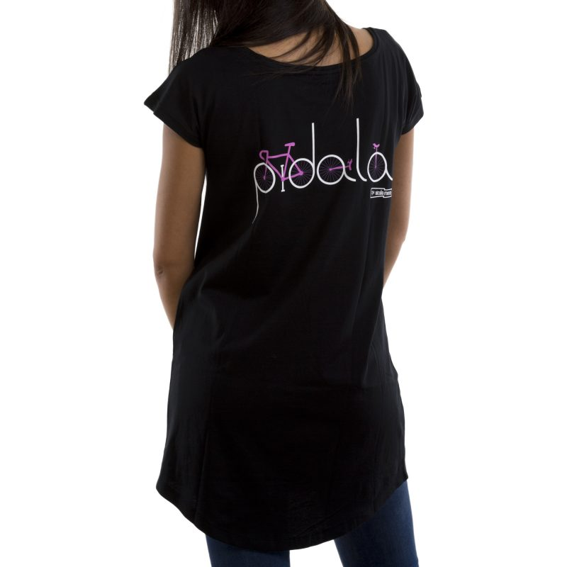 t-shirt long a vulisti nero retro