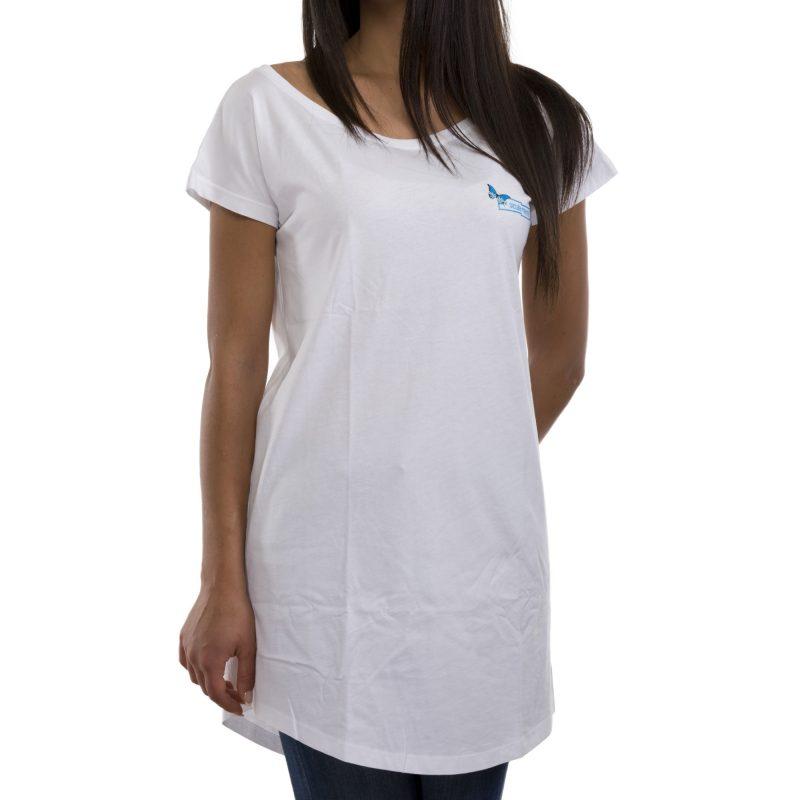 t-shirt long farfalla bianco fronte