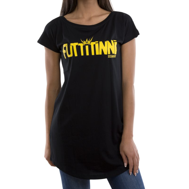 t-shirt long futtitinni nero fronte
