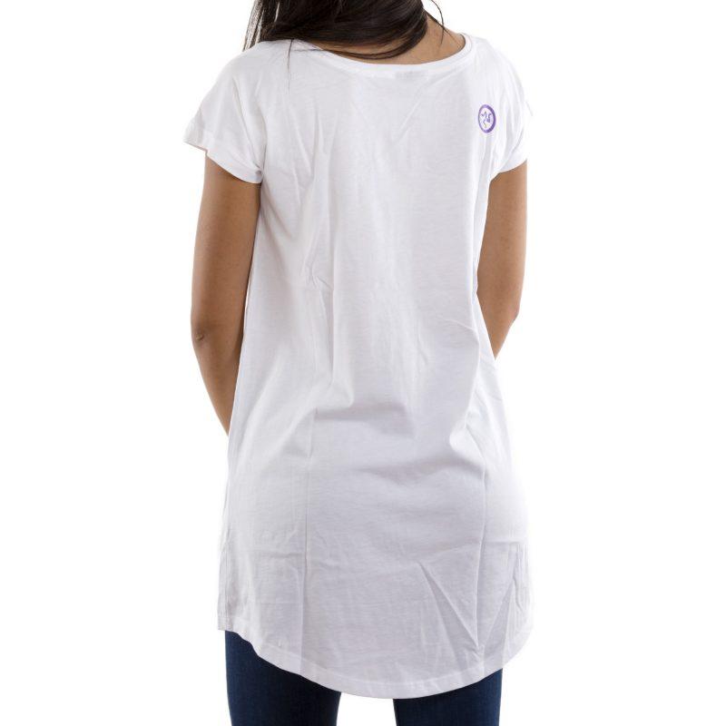 t-shirt long malu tiempu bianco retro