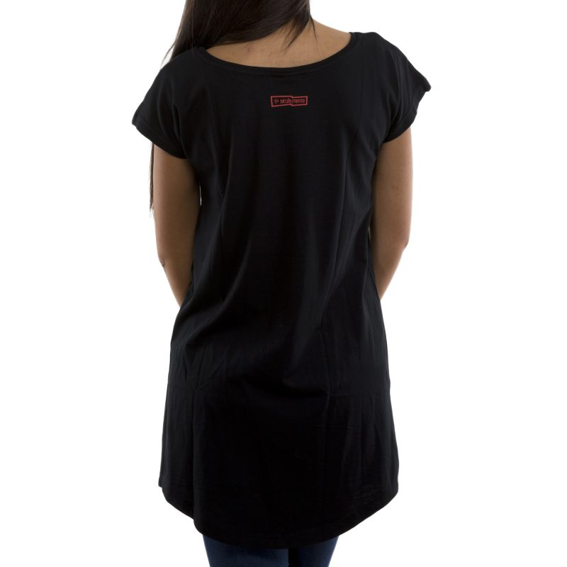 t-shirt long si fossi nero retro