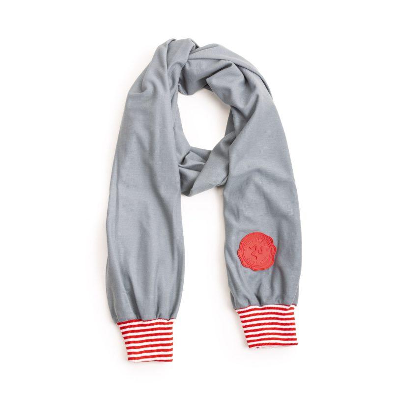 abraccio grigio rigata bianco rosso