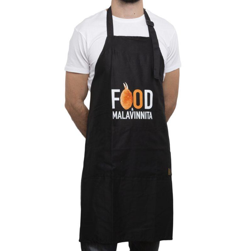 grembiule food e malavinnita nero