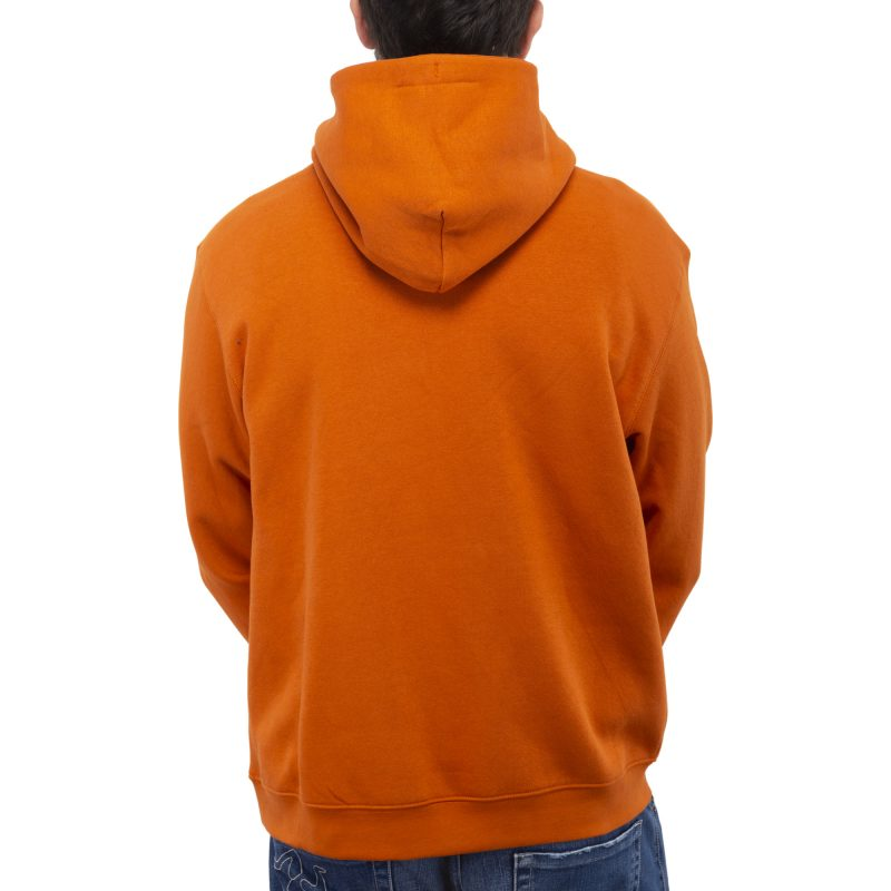 felpa cappuccio asso arancione retro