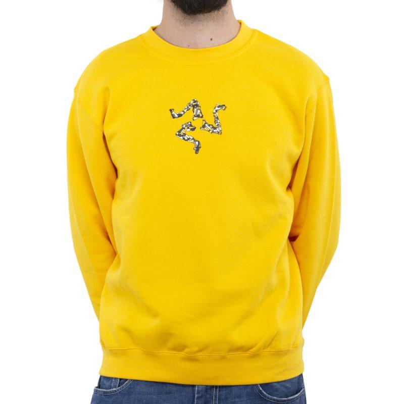 felpa giro sabbinirica giallo fronte