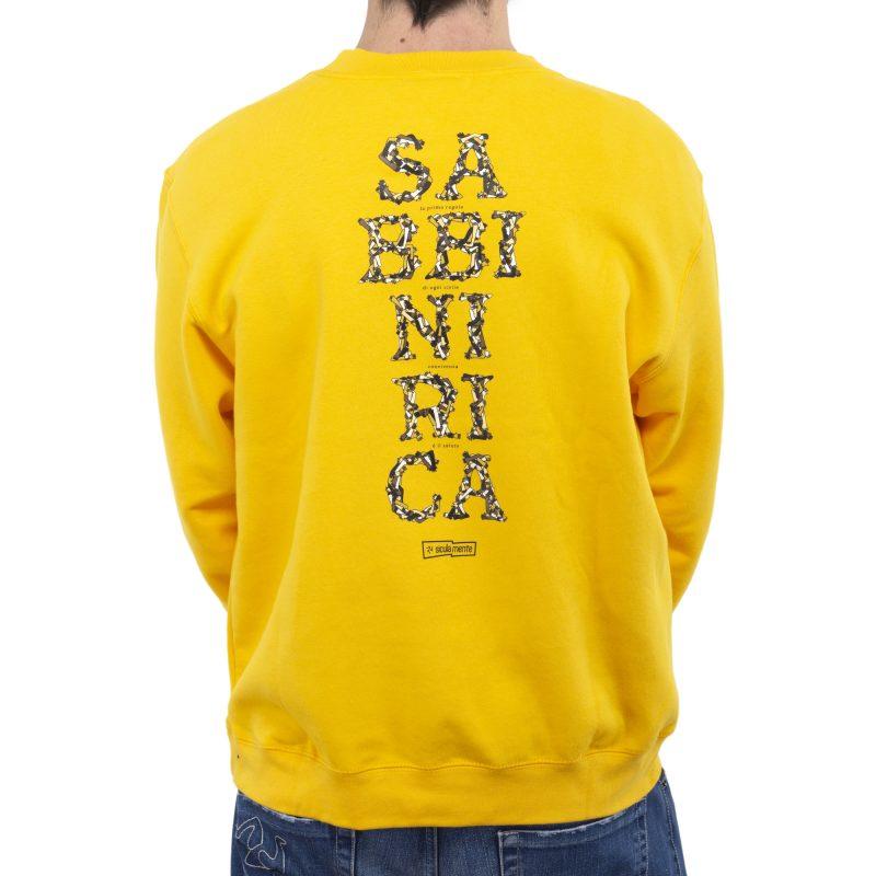felpa giro sabbinirica giallo retro