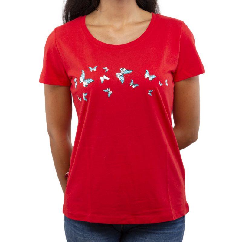 farfalla rosso fronte